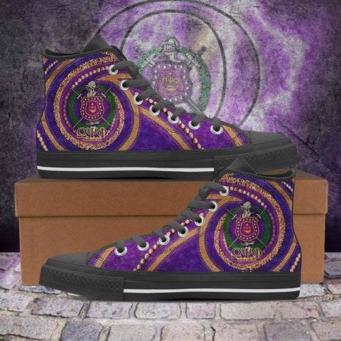Image of Men's Omega Psi Phi High Top Shoes - Unique Greek Store