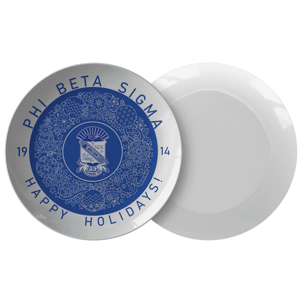Phi Beta Sigma Christmas Plate - Unique Greek Store