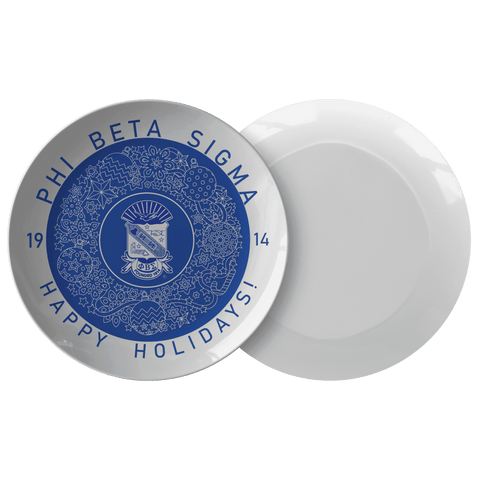 Image of Phi Beta Sigma Christmas Plate - Unique Greek Store