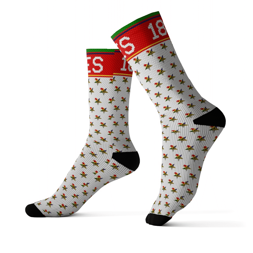 Order of the Eastern Star Christmas Holiday Socks