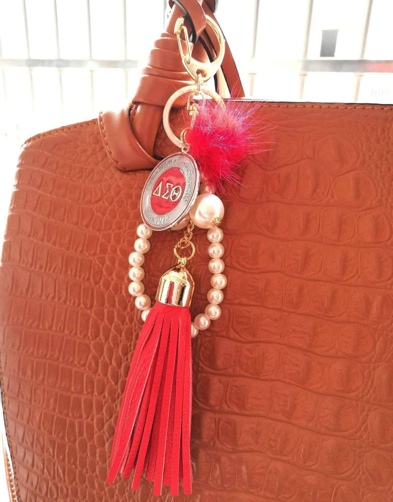 Delta Sigma Theta Bag Pendant - Unique Greek Store