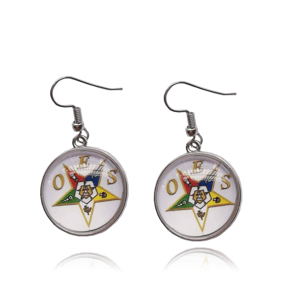 Order of the Eastern Star Round Earrings - Unique Greek Store