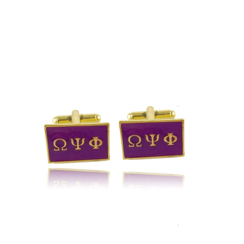Image of Omega Psi Phi Cufflinks - Unique Greek Store