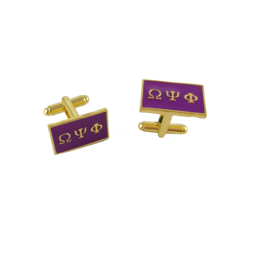 Omega Psi Phi Cufflinks - Unique Greek Store