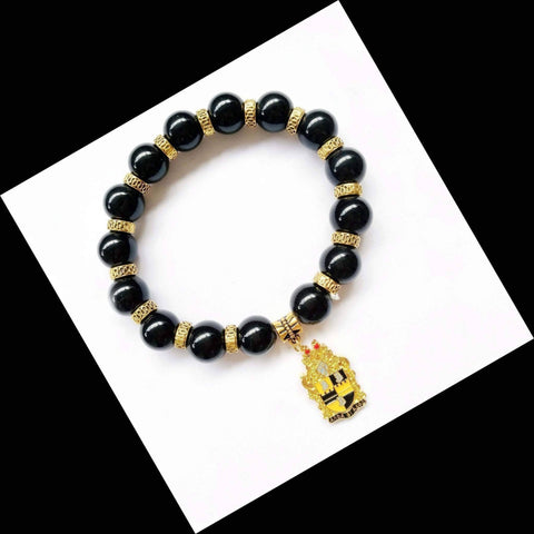 Alpha Phi Alpha Natural Stone Charm Bracelet - Unique Greek Store
