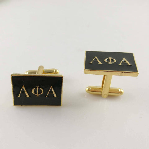 Alpha Phi Alpha Letter Cufflinks - Unique Greek Store