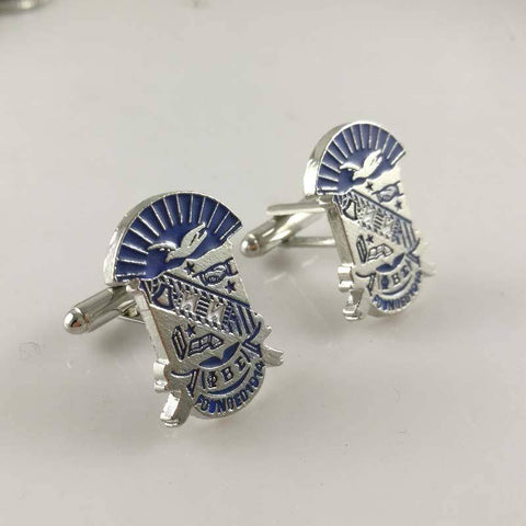 Image of Phi Beta Sigma Shield Cufflinks - Unique Greek Store