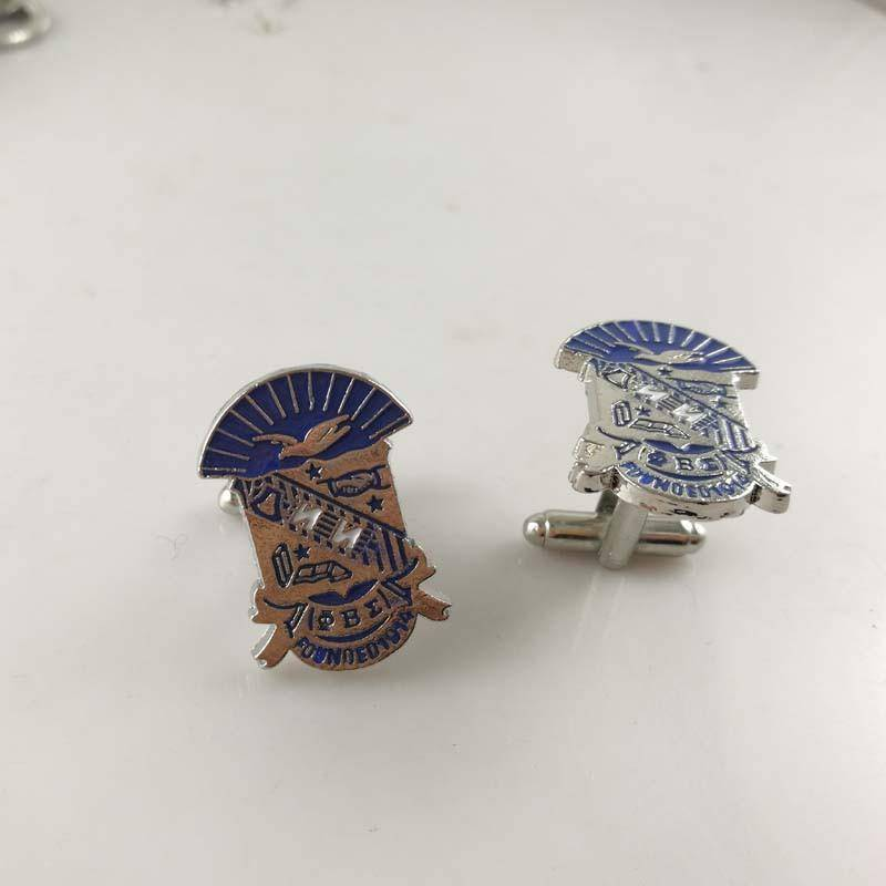Phi Beta Sigma Shield Cufflinks - Unique Greek Store