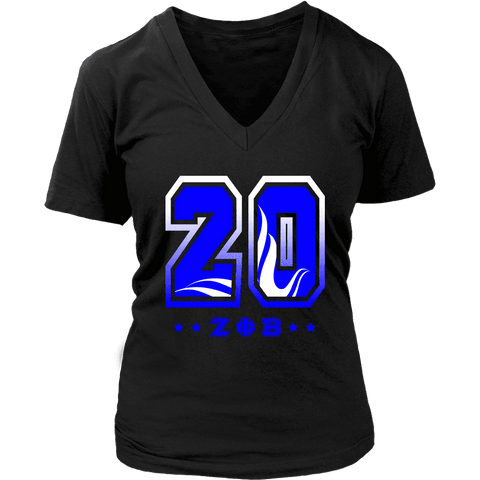 Zeta Phi Beta  Founding Year District Womens V-Neck - Unique Greek Store