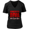 buy Delta Sigma Theta Tagline District Womens V-Neck online