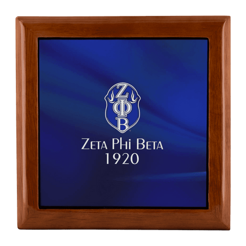 Zeta Phi Beta Jewelry Box - Unique Greek Store