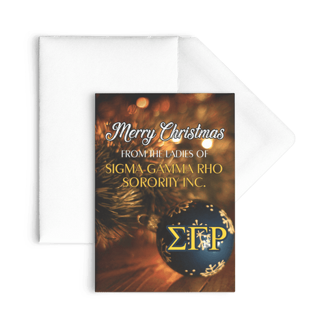 Image of Sigma Gamma Rho Christmas Card - Unique Greek Store