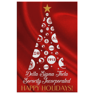 Delta Sigma Theta Christmas Wall Canvas - Unique Greek Store