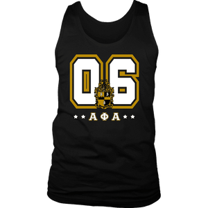 Alpha Phi Alpha Founding Year District Mens Tank - Unique Greek Store