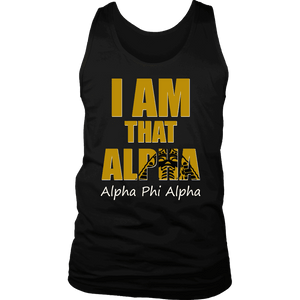 Alpha Phi Alpha Tagline District Mens Tank - Unique Greek Store