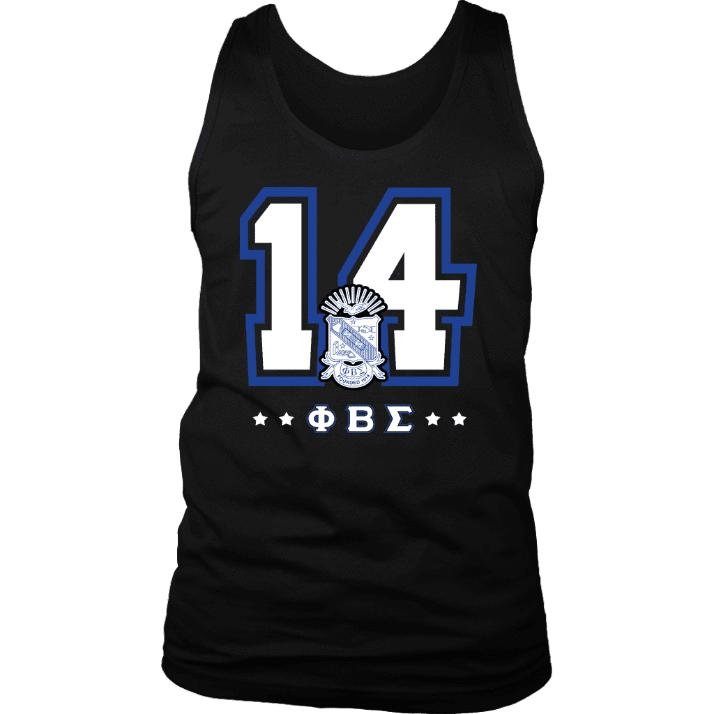 Phi Beta Sigma Founding Year District Mens Tank - Unique Greek Store
