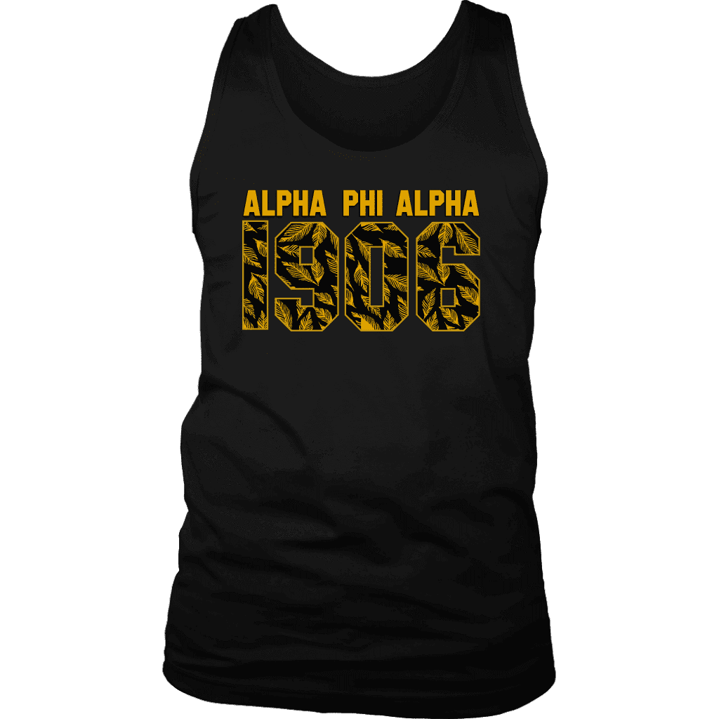 Alpha Phi Alpha Founding Year Tank - Unique Greek Store