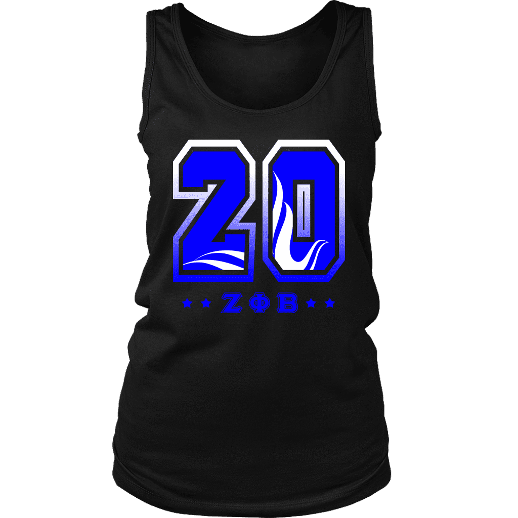 Zeta Phi Beta  Founding Year District Womens Tank - Unique Greek Store