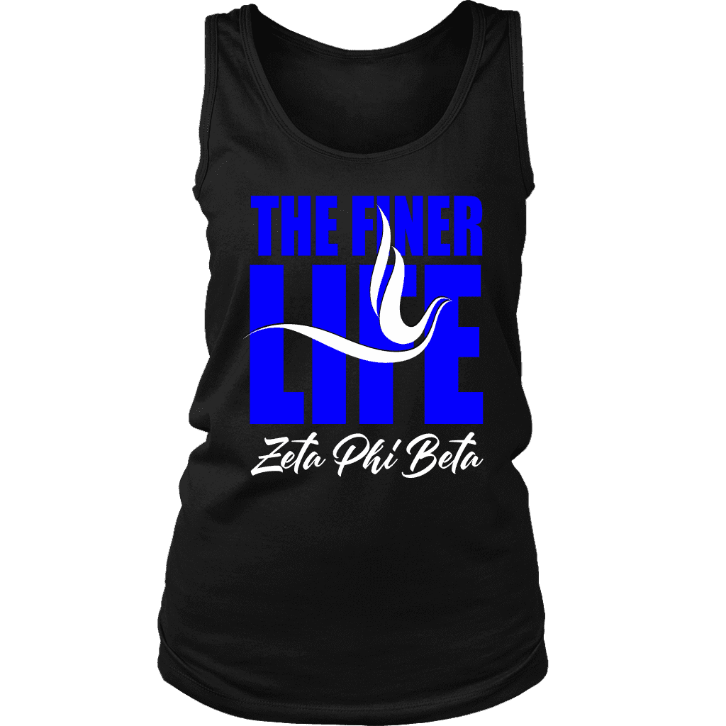Zeta Phi Beta Tagline District Womens Tank - Unique Greek Store