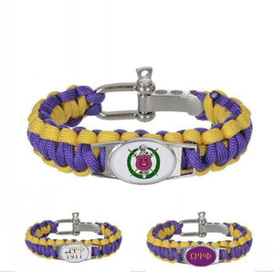 Omega Psi Phi Adjustable Bracelet - Unique Greek Store