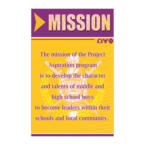 Image of Omega Psi Phi Mission Wall Art - Unique Greek Store