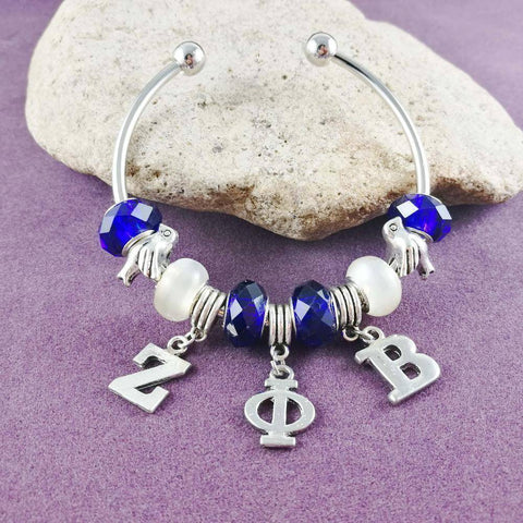 Zeta Phi Beta Dove Charm Bangle - Unique Greek Store