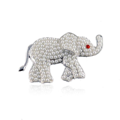 Delta Sigma Theta White Pearl Elephant  Sorority Pin - Unique Greek Store