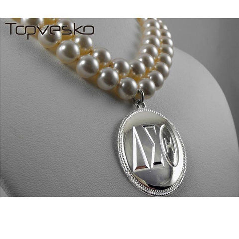 Image of Delta Sigma Theta Two String Pearl Necklace - Unique Greek Store