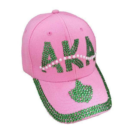 Image of Alpha Kappa Alpha Scarf  Necklace  with Pearl Hat - Unique Greek Store