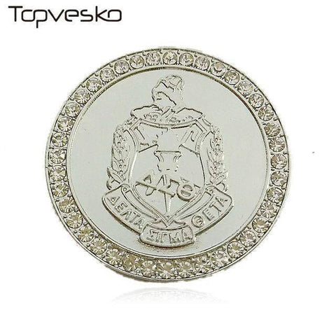 Image of Delta Sigma Theta Shield  Pin Brooch - Unique Greek Store