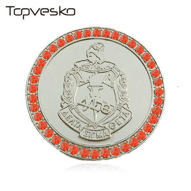 Delta Sigma Theta Shield  Pin Brooch - Unique Greek Store