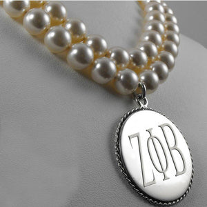 Zeta Phi Beta Double Strand Pearl Necklace - Unique Greek Store