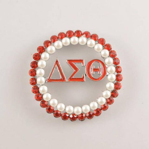 Delta Sigma Theta Logo Pearl Pin - Unique Greek Store