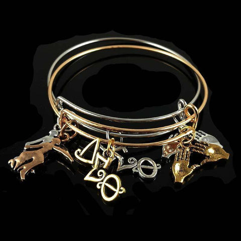 Image of Delta Sigma Theta  Charm Bangle - Unique Greek Store