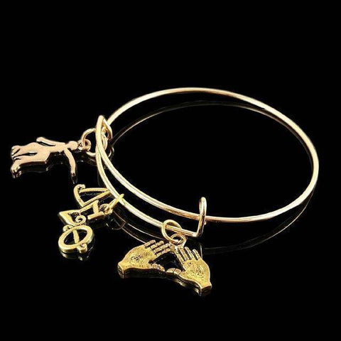 Delta Sigma Theta  Charm Bangle - Unique Greek Store