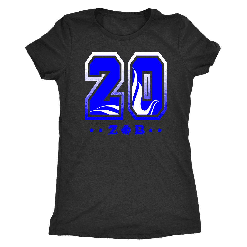 Zeta Phi Beta  Founding Year Next Level Womens Triblend - Unique Greek Store