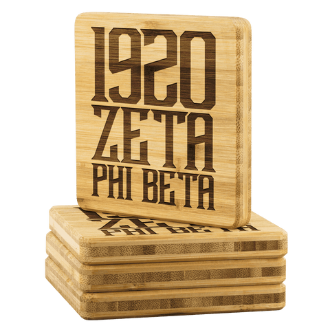 Image of Zeta Phi Beta Square Coaster