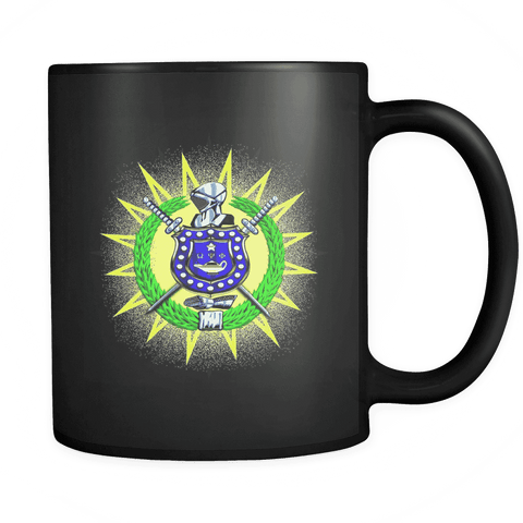 Image of Omega Psi Phi Black 11oz Mug - Unique Greek Store