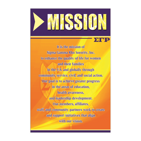 Image of Sigma Gamma Rho Mission Wall Art - Unique Greek Store