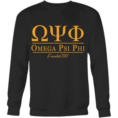 Omega Psi Phi Collegiate Sweatshirt - Unique Greek Store