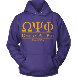 Omega Psi Phi Collegiate Hoodie - Unique Greek Store