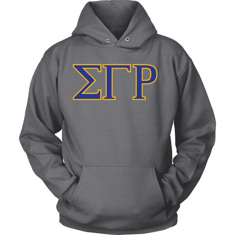Sigma Gamma Rho Lettered Hoodie - Unique Greek Store