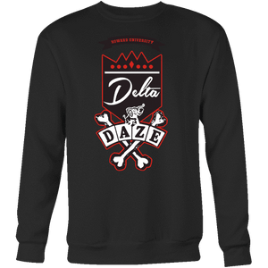 Delta Daze Crewneck Sweater - Unique Greek Store