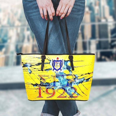 Image of Sigma Gamma Rho Leather Tote - Unique Greek Store