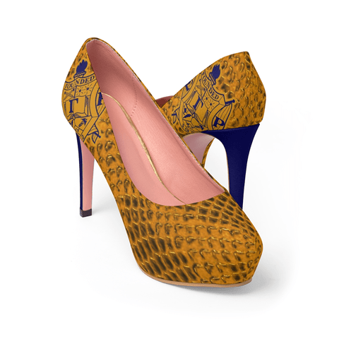 Image of Sigma Gamma Rho High Heel Snake Shoe