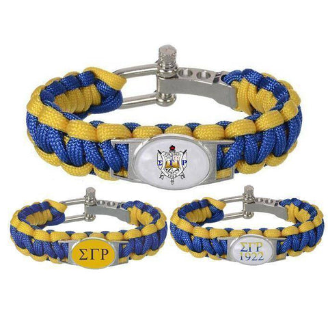 Image of Sigma Gamma Rho Adjustable Bracelet - Unique Greek Store