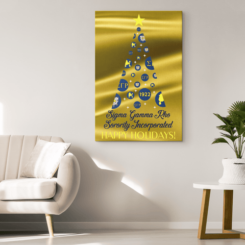 Sigma Gamma Rho Christmas Wall Canvas