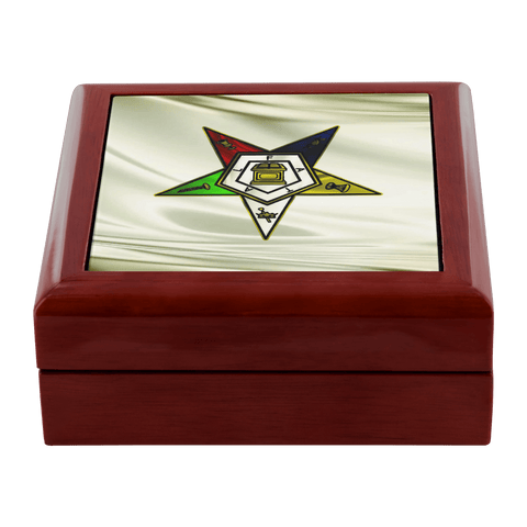 Image of Order of the Eastern Star Jewelry Box