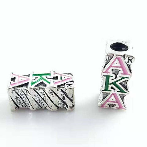 Image of Alpha Kappa Alpha Big Hole Beads Pendant