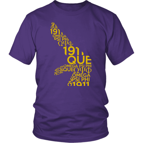 Omega Psi Phi Sign Tee - Unique Greek Store